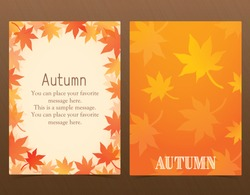 Autumn postcard design, poster design, advertisement, catalog, ticket, event flyer, flyer
