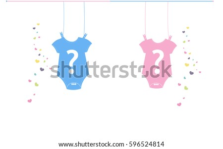 Baby newborn hanging baby boy baby girl body. Baby gender reveal