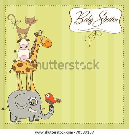 baby shower card with funny