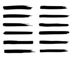 Background for your text. Set of black ink strokes. Stylish elements. Black brush elements. Dirty decoration elements.