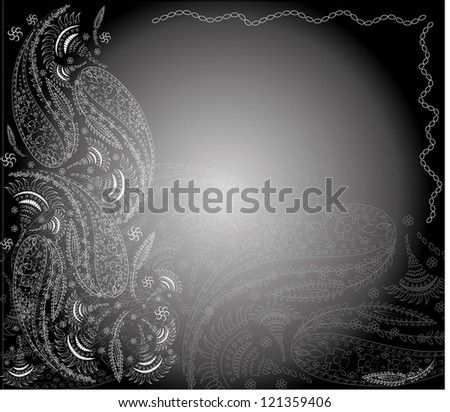 Background. Hand Drawn ornament. Vector illustration.