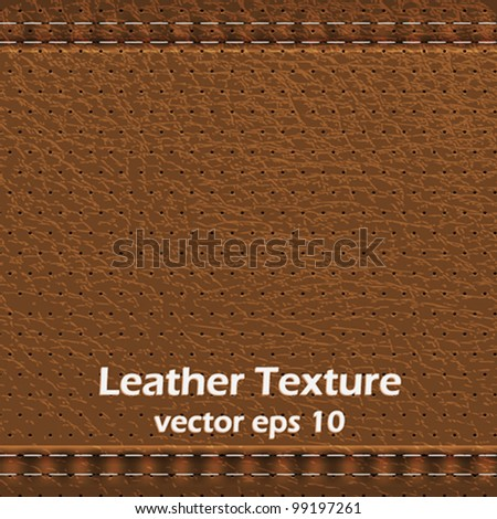 Background made of leather texture.Vector