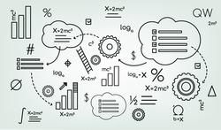 background schema formula, Institute, graphic,  gear