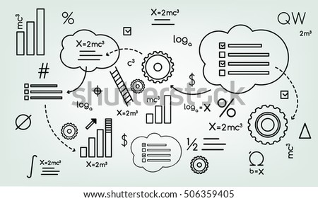 background schema formula, Institute, graphic,  gear