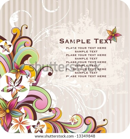 spring flower wallpaper. text and spring flowers