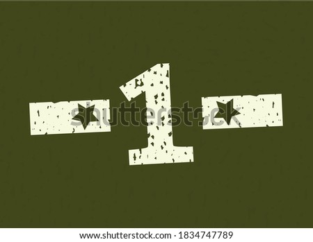 1 badge number military  army