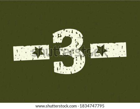 3 badge number military  army