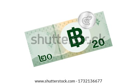 25 baht thai banknote money