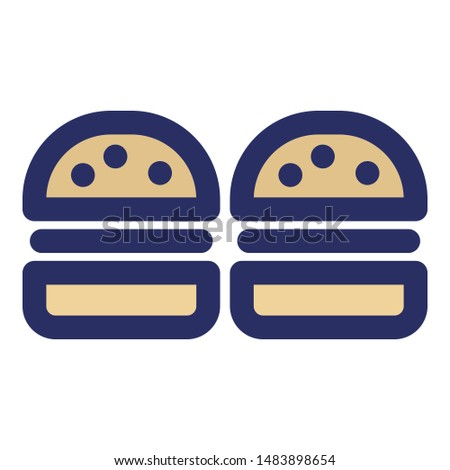 Bakery item, breakfast item Bold Outline Vector icon which can easily edit or modify in any style