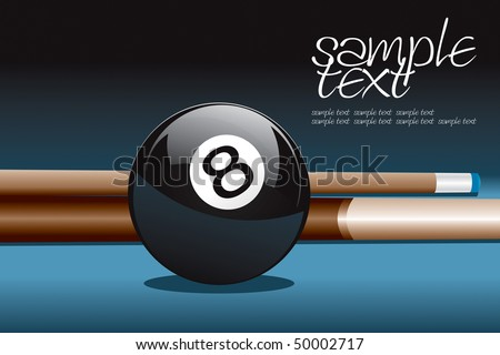 8 Ball and Stick Vector Drawing