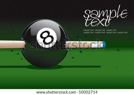 8 Ball Broken Vector Drawing