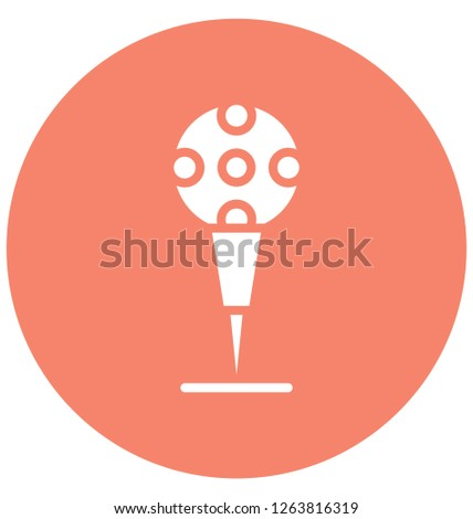 ball tee, golf tee Vector that can be easily modified or edit