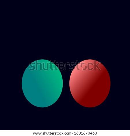 2 balls vector icon in green