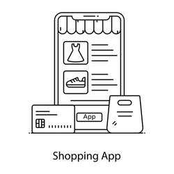 Bank card with mobile phone denoting concept of secure card payment method icon