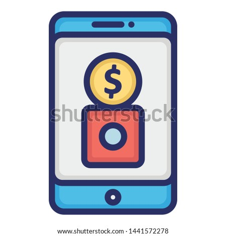 Banking app, business app Vector Icon