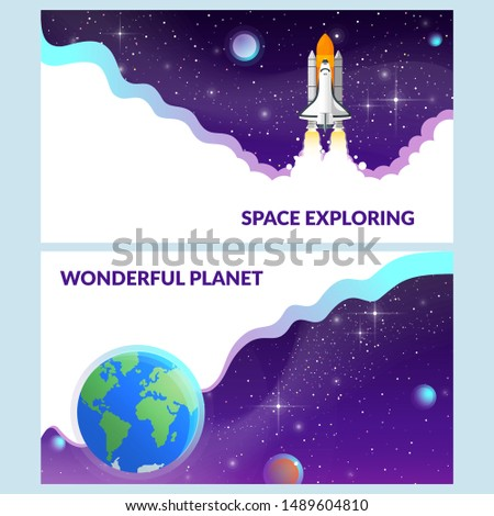2 banners on the space theme