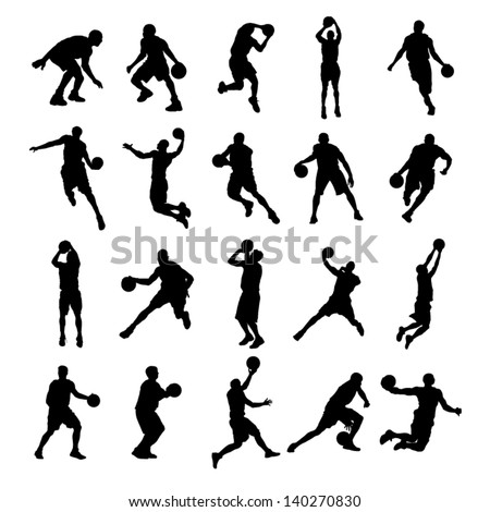 20 basketball black silhouette