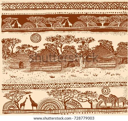 Beautiful African carpet. Beautiful ethnic pattern.