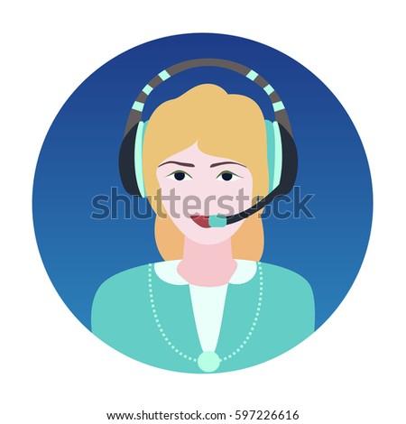 beautiful blonde in headphones
