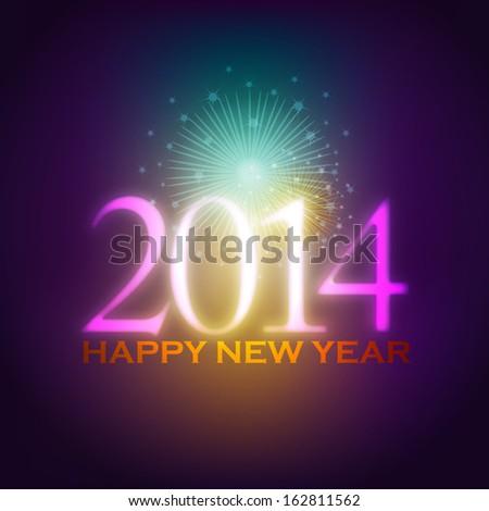 2014, Beautiful new Year Background