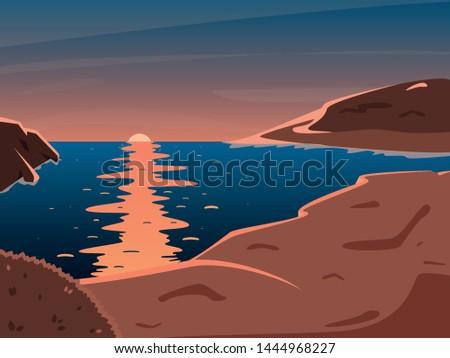 beautiful orange sunset on the