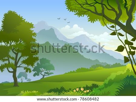 Beautiful Panorama  Of Himalayan Hills