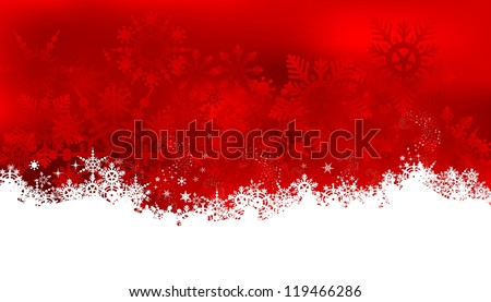 beauty christmas card background with snowflakes