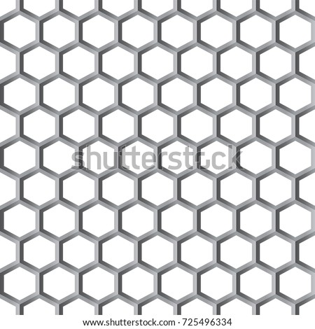 bee honeycombs. Black and white, texture. Abstract seamless pattern .Vector illustration.