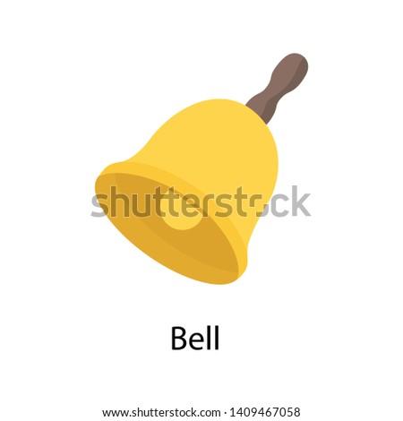 Bell, isometric vector design vector