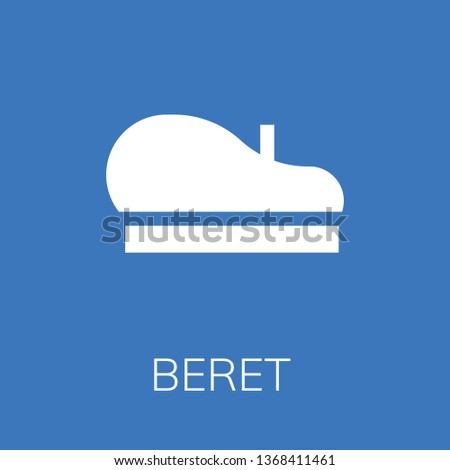 Beret icon. Editable  Beret icon for web or mobile.