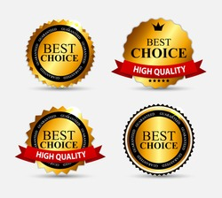 Best Choice Label Set Vector Illustration EPS10