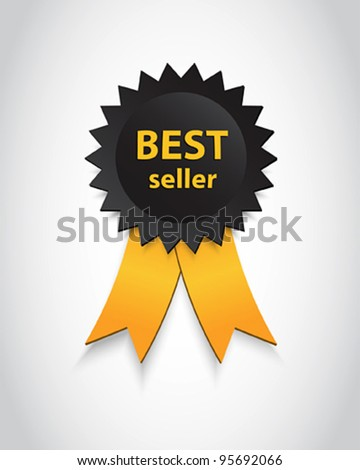 """BEST SELLER"" Tag And Ribbons. eps10 vector"