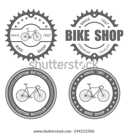 bicycle label set template