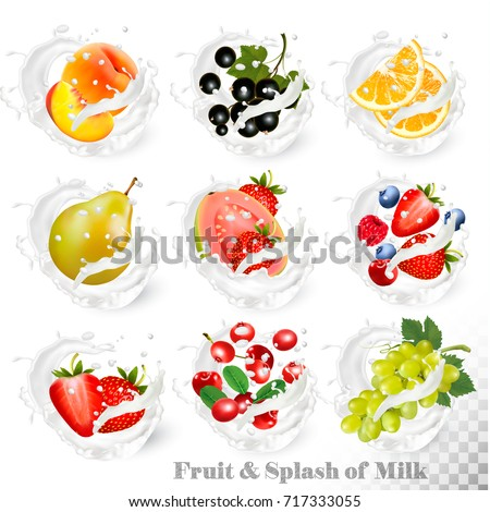 big collection of fruit in a
