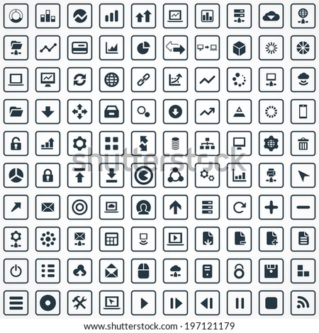 100 big data  database icons
