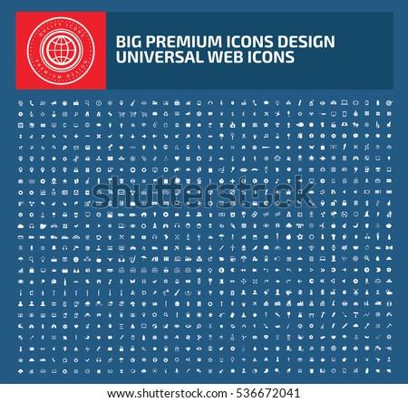 Big icon set,clean vector