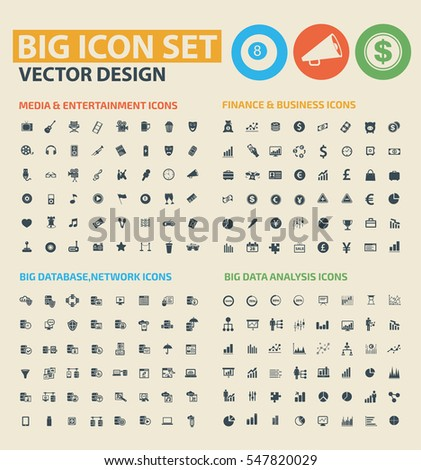 Big icon set,clean vector #547820029