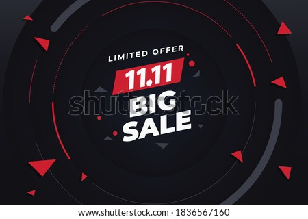 11.11 big sale,singles day sale flyer,web banner, template.Crazy sales online.11.11 Shopping day sale poster or flyer design