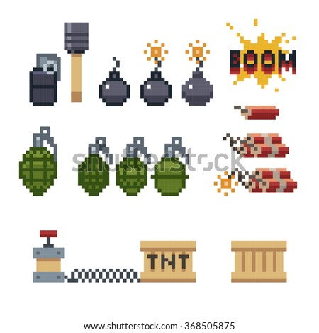 8 bit dynamite sticks  granade