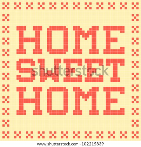 8 bit pixel art home sweet home