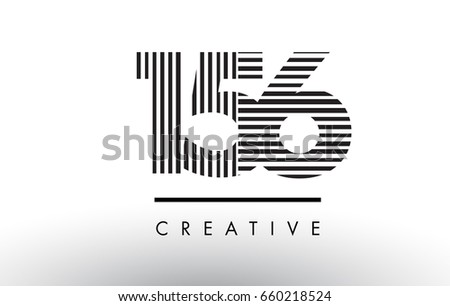 156 black and white number logo