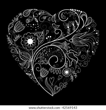 valentine heart. and White Valentine Heart