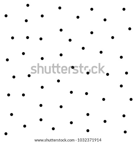 BLACK dots, abstract  and cute background. Seamless vector pattern.cute holiday background. BLACK circles pattern. White background. Photo stock ©