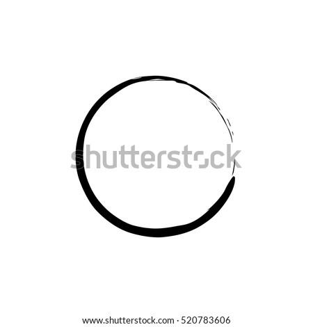 black enso zen circle on white