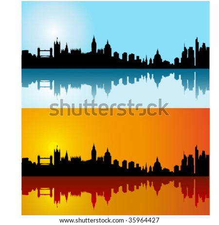 day skyline. silhouette skyline on day