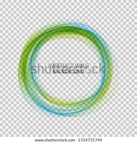 blue green circle frame