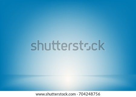 blue studio room background ,Template mock up for display of product