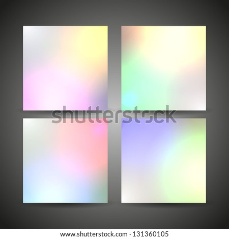4 Blur Color Backgrounds