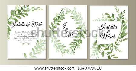 botanic card with wild leaves