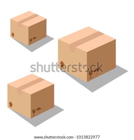 ?Box icons vector